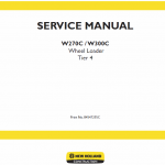 New Holland W270c, W300c Tier 4 Wheel Loader Service Manual