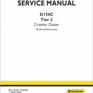 New Holland D180C Tier 2 Crawler Dozer Service Manual