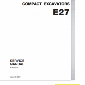 New Holland E27 Compact Excavator Service Manual