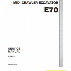 New Holland E70 Midi Crawler Excavator Service Manual