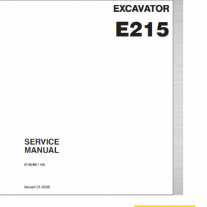 New Holland E215 Excavator Service Manual