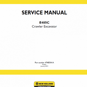New Holland E485c Crawler Excavator Service Manual