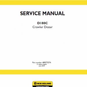 New Holland D180C Crawler Dozer Service Manual