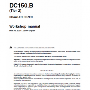 New Holland Dc150.b Tier 2 Crawler Dozer Service Manual