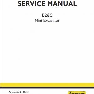 New Holland E26c Mini Excavator Service Manual