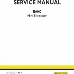 New Holland E60c Mini Excavator Service Manual