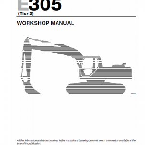 New Holland E265 And E305 Tier 3 Excavator Service Manual