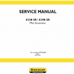 New Holland E35BSR, E39BSR Mini Excavator Service Manual