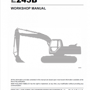 New Holland E215b, E245b Excavator Service Manual