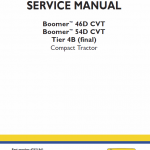 New Holland Boomer 46d Cvt, 54d Cvt Tractor Service Manual