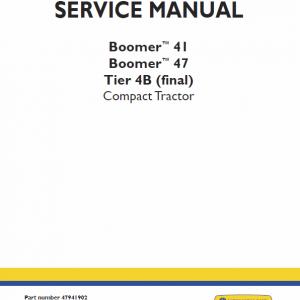 New Holland Boomer 41 and Boomer 47 Tractor repair Manual