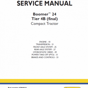 New Holland Boomer 24 Tractor repair Manual