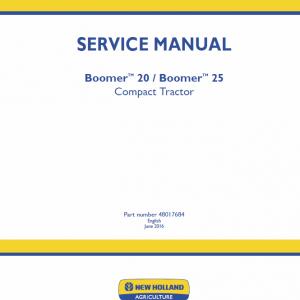 New Holland Boomer 20 and Boomer 25 Tractor repair Manual