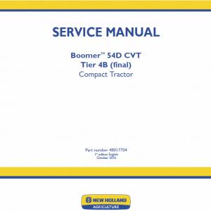New Holland Boomer 54D CVT Tractor repair Manual