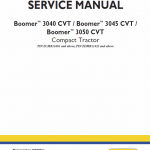 New Holland Boomer 3040 Cvt, 3045 Cvt And 3050 Cvt Tractor Manual