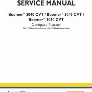 New Holland Boomer 3040 Cvt, 3045 Cvt And 3050 Cvt Tractor Manual