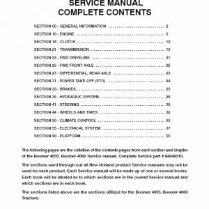 New Holland Boomer 4055 and Boomer 4060 Tractor repair Manual