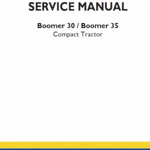 New Holland Boomer 30 and Boomer 35 Tractor repair Manual