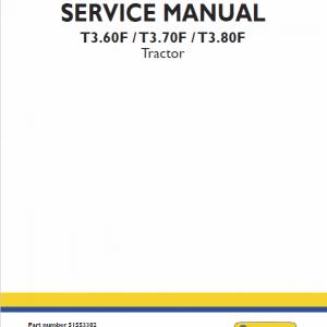 New Holland T3.60F, T3.70F, T3.80F Tractor repair Manual