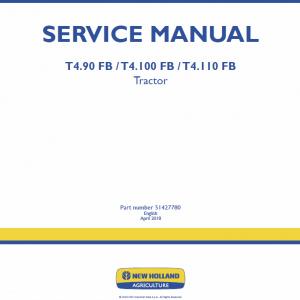 New Holland T4.90 FB, T4.100 FB, T4.110 FB Tractor Repair Manual
