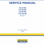 New Holland T14.70 Rs, T14.80 Rs Tractor Service Manual