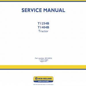 New Holland T1254B, T1404B Tractor Repair Manual