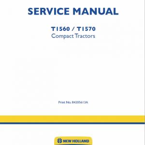 New Holland T1560, T1570 Tractors Service Manual