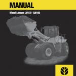 New Holland LW170, LW190 Wheel Loaders Service Manual