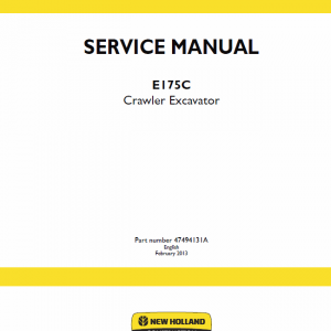 New Holland E175c Crawler Excavator Service Manual
