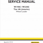 New Holland W190c, W230c Tier 4a Wheel Loader Service Manual
