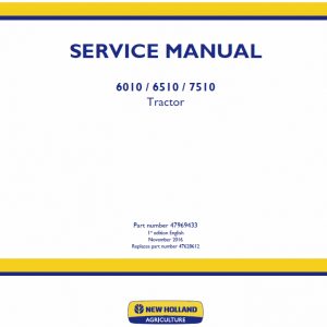 New Holland 6010, 6510, 7510 Tractor Service Manual