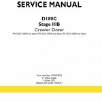 New Holland D180c Stage 3b Crawler Dozer Service Manual