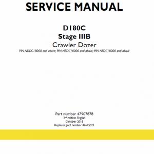 New Holland D180C Stage 3B Crawler Dozer Service Manual