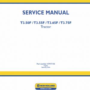 New Holland T3.50f, T3.55f, T3.65f, T3.75f Tractor Service Manual