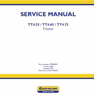 New Holland Tt4.55, Tt4.65, Tt4.75 Tractor Service Manual