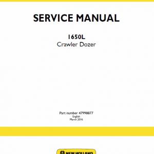 New Holland 1650L Crawler Dozer Service Manual