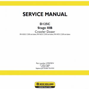 New Holland D125C Stage 3B Crawler Dozer Service Manual