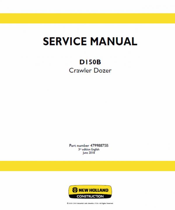 New Holland D150b Crawler Dozer Service Manual