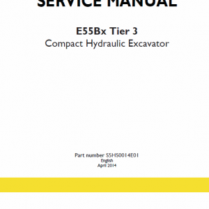 New Holland E55bx Tier 3 Compact Excavator Service Manual