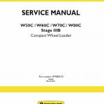 New Holland W50c, W60c, W70c, W80c Stage 3b Loader Service Manual