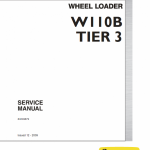 New Holland W110b Tier 3 Wheel Loader Service Manual