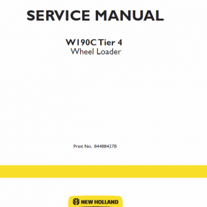 New Holland W190c Tier 4 Wheel Loader Service Manual