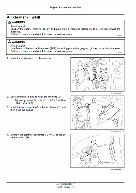 New Holland E30c Mini Excavator Service Manual