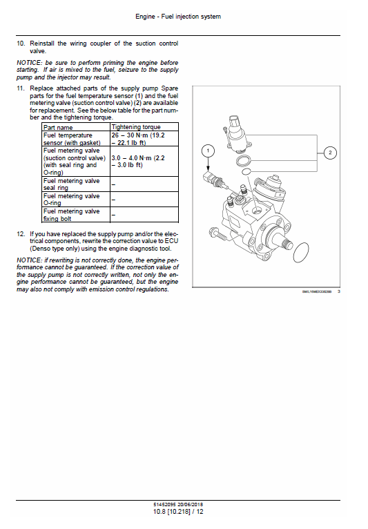 New Holland E57c Mini Excavator Service Manual