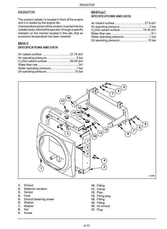 New Holland Mh4.6, Mhplusc Excavator Service Manual
