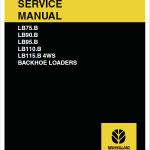 New Holland Lb75.b, Lb90.b, Lb95.b, Lb110.b, Lb115.b Backhoe Service Manual