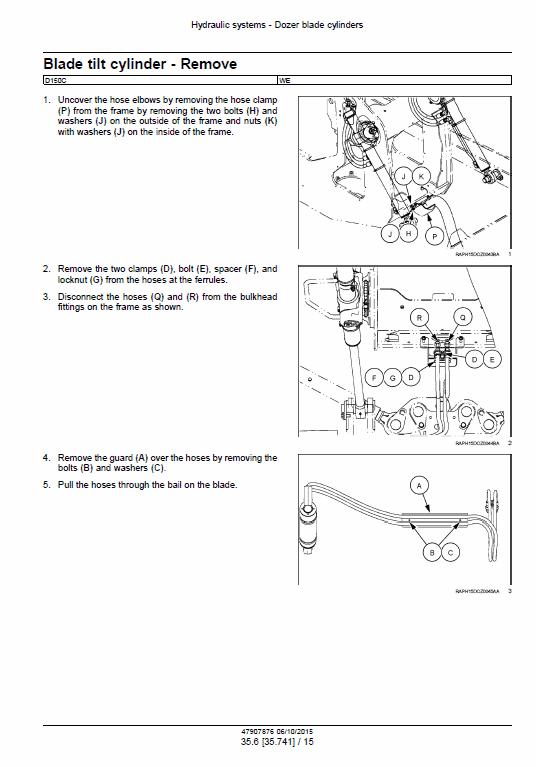 New Holland D150c Stage 3b Crawler Dozer Service Manual