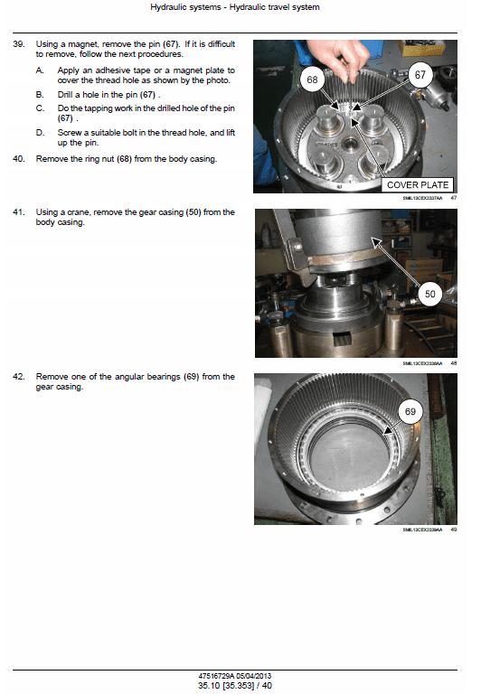 New Holland E85cmsr Midi Excavator Service Manual