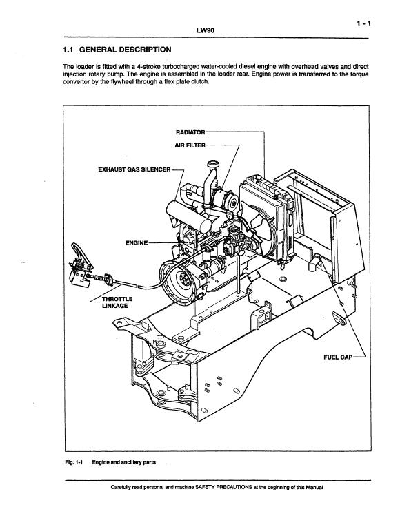 New Holland Lw90 Wheel Loader Service Manual