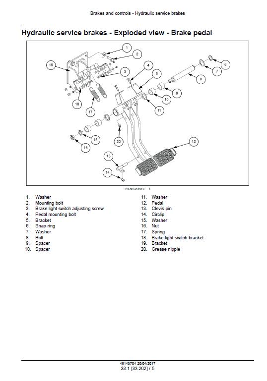 New Holland B80b Backhoe Loader Service Manual